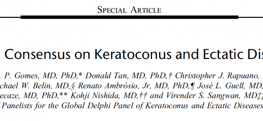 Global Consensus on Keratoconus and Ectatic Diseases
