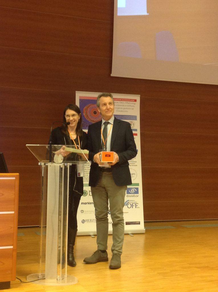 Laura Boccardo e Alessandro Fossetti ritirano premio Sessione POSTER