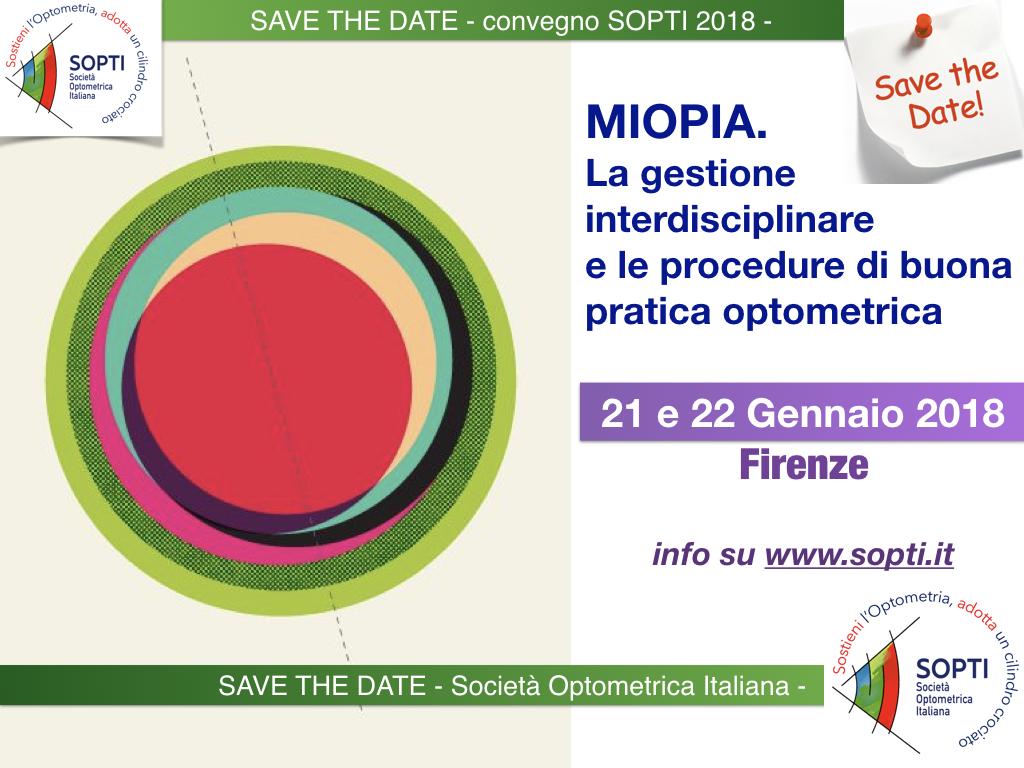 Congresso sopti La Miopia: gestione interdisciplinare e procedure di buona pratica in optometria a Firenze