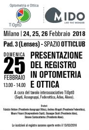 MIDO 2018 – PRESENTAZIONE REGISTRO TIOPTO